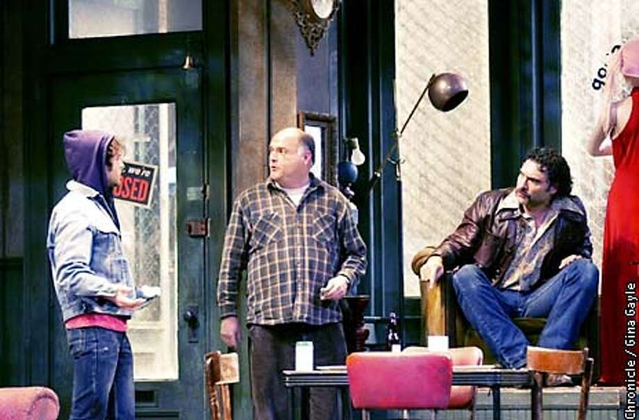"""BUFFALO17a-C-08JAN02-DD-GG-Damon Seawell as Bob, Matt DeCaro as Don Dubrow and Marco Barricelli as Teach in the ACt production of """"American Buffalo."""" Photo by Gina Gayle/The SF Chronicle. Photo: GINA GAYLE"""