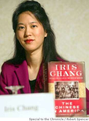 CHANG_rs1.jpg Author Iris Chang speaks at a panel at the twelfth annual conference of the Committee of 100, at the Waldorf-Astoria, in New York, Saturday, April 26, 2003. The Committee of 100 is a national non-partisan organization composed of American citizens of Chinese descent who have achieved positions of leadership in the United States in a broad range of professions. The group meets to address important issues concerning the Chinese-American community, as well as issues affecting U.S.-China relations on 5/5/03 in New York. Robert Spencer / The Chronicle MANDATORY CREDIT FOR PHOTOG AND SF CHRONICLE/ -MAGS OUT Photo: Robert Spencer