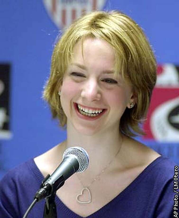 Olympic gold medalist Sarah Hughes smiles during a news conference at the 2003 U.S. Figure Skating Championships, Tuesday, Jan. 14, 2003, in Dallas. (AP Photo/LM Otero) Photo: LM OTERO