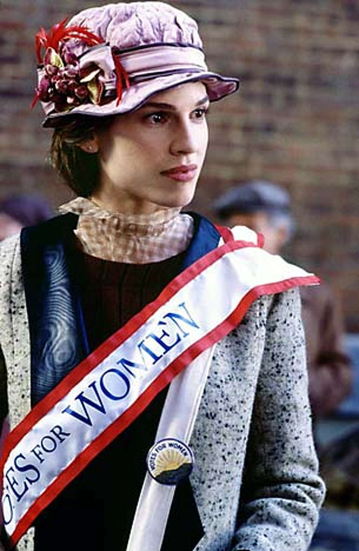 IRON15 IRON JAWED ANGELS: Hilary Swank. Living#Living#Chronicle#10/24/2004#ALL#Advance#F1#0421602095