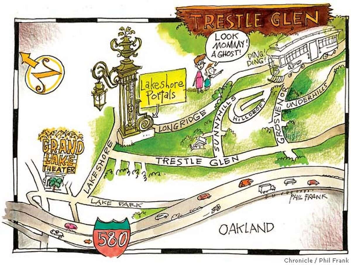 Trestle Glen. Chronicle illustration by Phil Frank