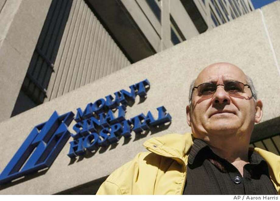 SPECIAL FOR THE SAN FRANCISCO CHRONICLE--John Kioussis photographed in front of Mount Sinai Hospital in Toronto Tuesday October 5, 2004. (CP PHOTO/Aaron Harris) SPECIAL FOR THE SAN FRANCISCO CHRONICLE Business#Business#Chronicle#10/24/2004#ALL#Advance#J2#0422396032 Photo: AARON HARRIS