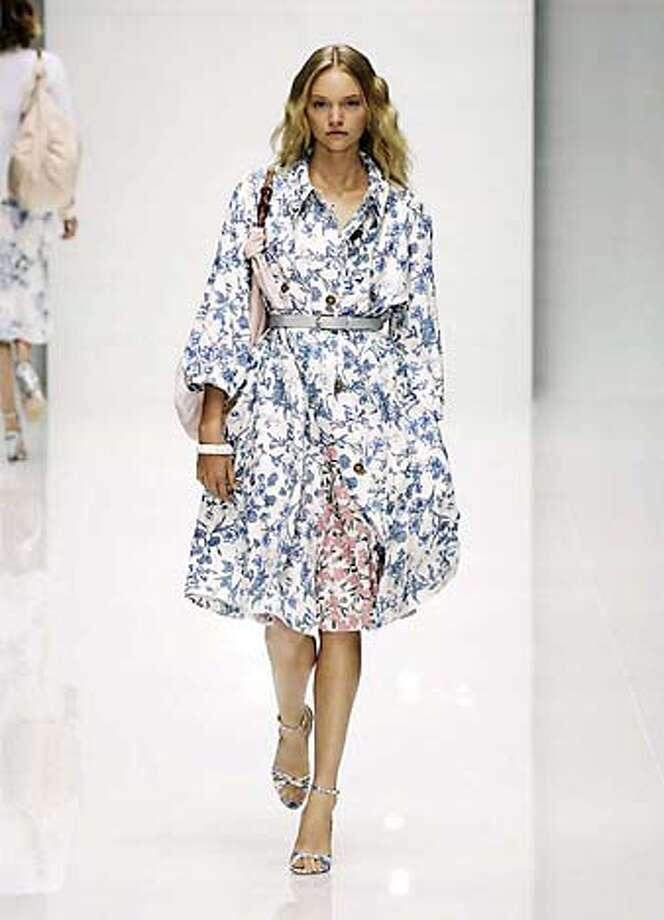 Floral trench coat bby Christopher Bailey for Burberry Spring 2005.  HANDOUT