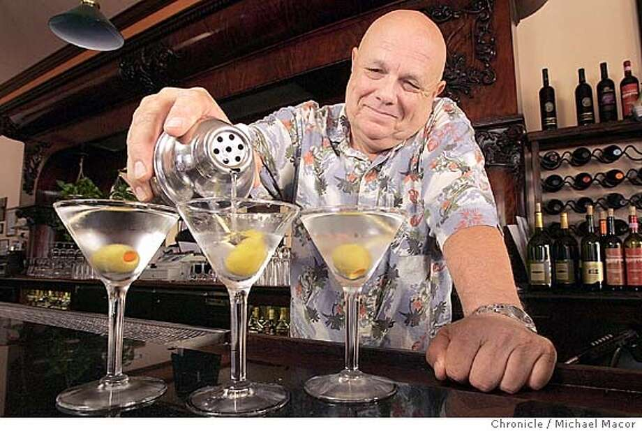 "Mike Butler is a bartender at ""La Beau's Louisiana Kitchen"" in downtown Martinez. He will compete in the competition. Martinez's Martini Festival, a celebration in the city widely considered as the birthplace of the drink. on 9/28/04. Michael Macor / San Francisco Chronicle Photo: Michael Macor"