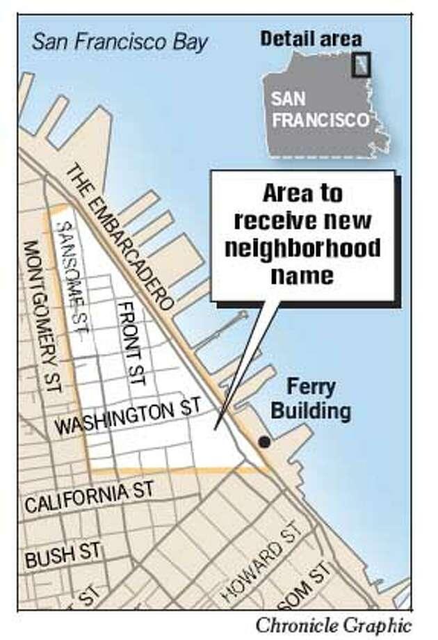 Area to Receive New Neighborhood Name. Chronicle Graphic