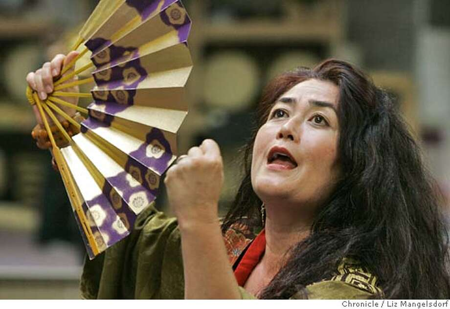 "Event on 10/20/04 in South San Francisco.  Brenda Wong Aoki during rehearsal.  Rehearsal of ""Ghost Festival"", which will open at Yerba Buena Center for Arts Oct. 29th.  Liz Mangelsdorf / The Chronicle Photo: Liz Mangelsdorf"