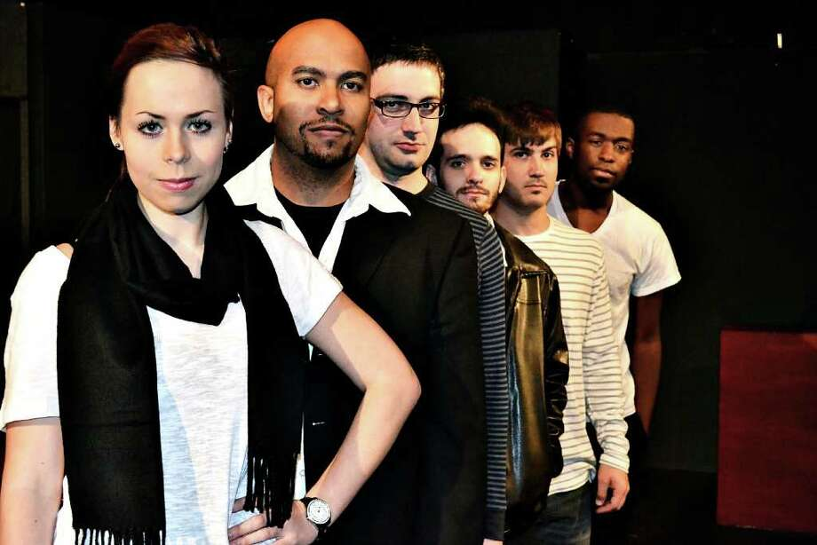 """The cast of """"The Guys You Slept With"""" includes Kristen Hinton (from left), Torence White, Ryan Kirby, Kyle Tolbert, Trevor Anthony and playwright TJ Young. Photo: Rose Theatre Company, Courtesy"""