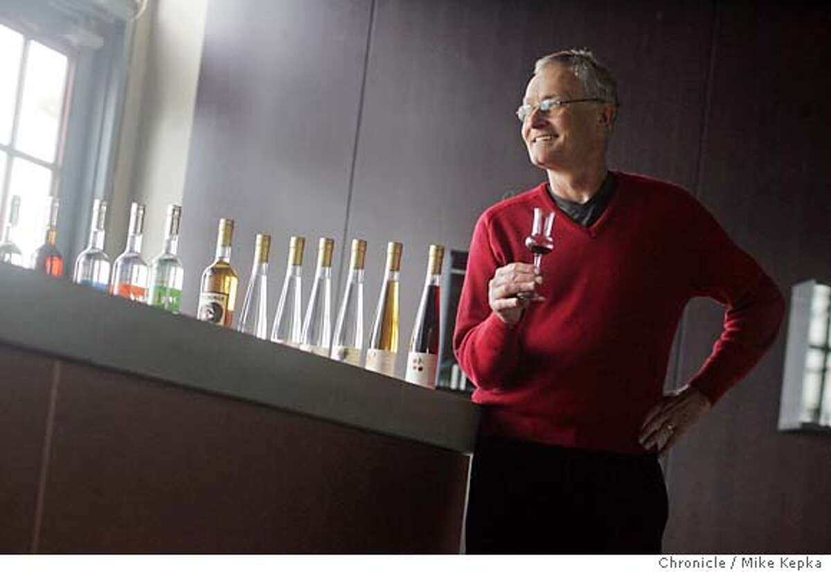 St. George Spirts master distiller, Jorge Rupf recently opened a tasting room at the new distillery in Alameda. Mike Kepka / The Chronicle