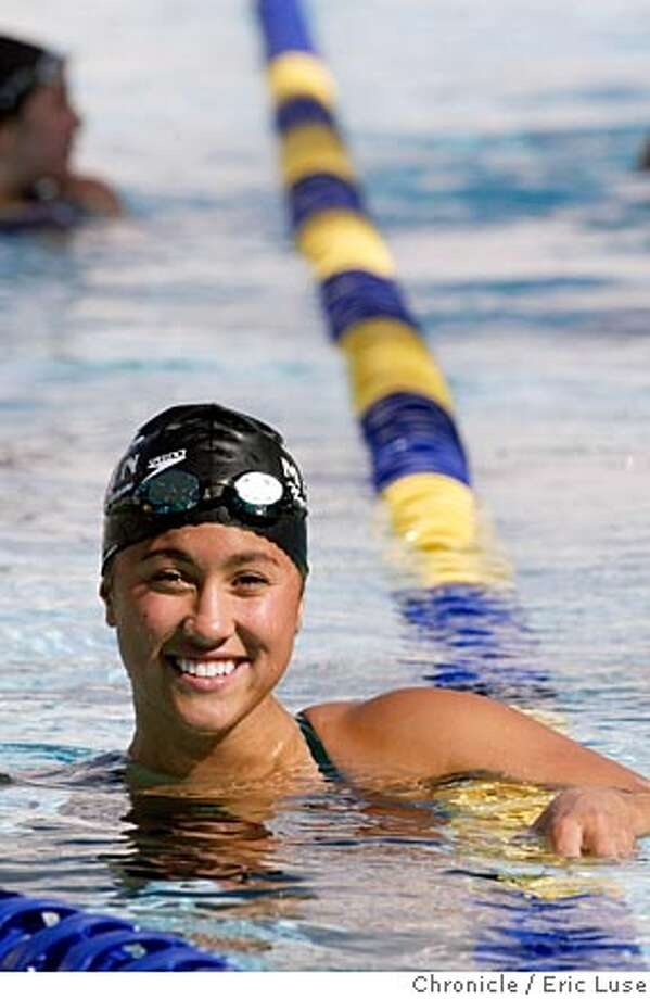 nbalvarez_0027_el.JPG  Prior to the meet against Terra Linda High.  Profile of Sir Francis Drake senior swimmer Elena Alvarez, who three weeks ago placed 14th in the Junior Nationals competition in Orlando, Florida.  Photo shoot will take place at Sir Francis Drake's next meet, which will be held at Terra Linda High School in San RafaelEvent on 4/7/05 in Terra Linda. Eric Luse / The Chronicle Photo: Eric Luse