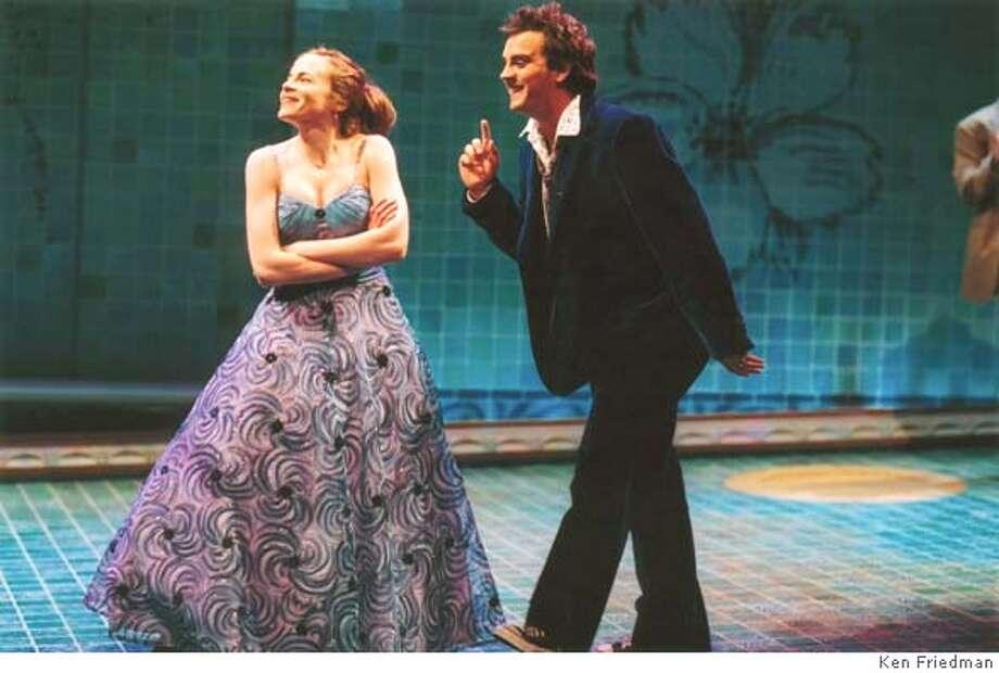Maria Dizzia as Eurydice and Daniel Talbott as Orpheus in Sarah Ruhl�s award-winning play Eurydice playing at Berkeley Repertory Theatre.� Photo: Ken Friedman Datebook#Datebook#Chronicle#10/22/2004##Advance##0422420034 Photo: Ken Friedman