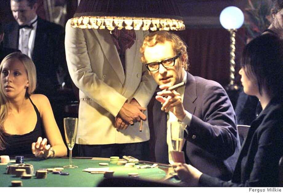 STELLA22 Phil Cornwell as Michael Caine in Stella Street - The Movie, directed by Peter Richardson. Photograph by Fergus Wilkie. Datebook#Datebook#Chronicle#10/22/2004##Advance##0422423168