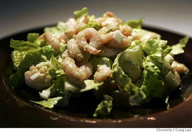 SHRIMP13_recipes_030_cl.JPG  Recipe to go with food story on shrimp. Shrimp salad. Food photo styled by Jennifer Tomaro.  Event on 4/8/05 in San Francisco. Craig Lee / The Chronicle MANDATORY CREDIT FOR PHOTOG AND SF CHRONICLE/ -MAGS OUT Photo: Craig Lee