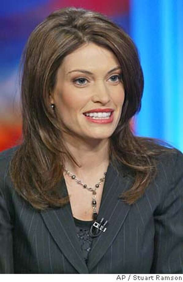 Co-anchor Kimberly Guilfoyle Newsom on the set of Both Sides, a Court TV program filmed in New York City, Wednesday, Feb 4, 2004. (AP Photo/Stuart Ramson) Photo: STUART RAMSON