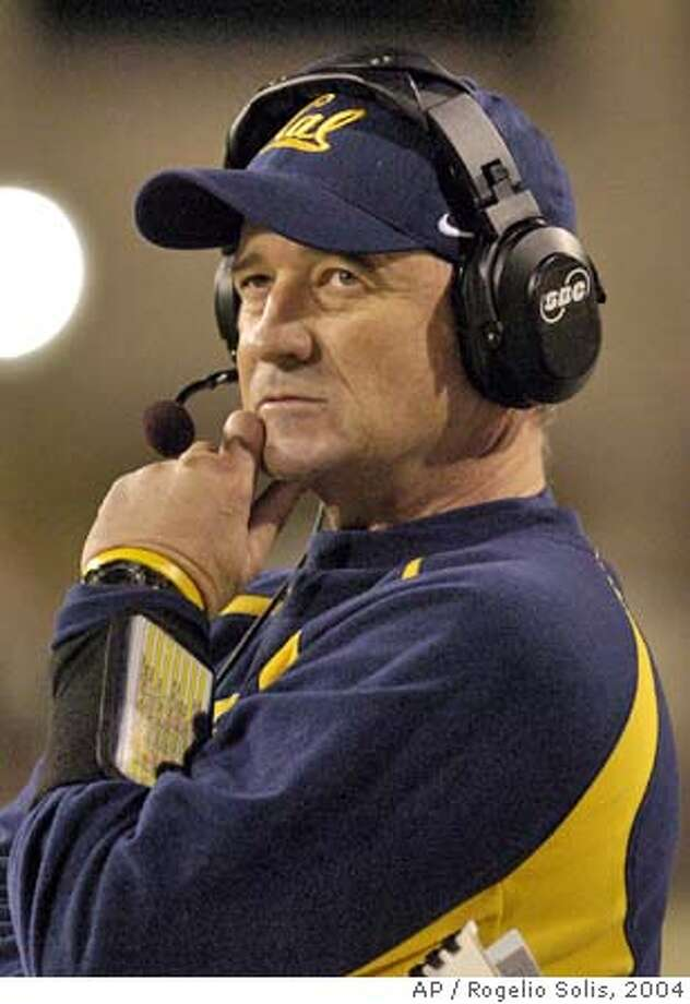 California football coach Jeff Tedford looks up at the scoreboard in the fourth quarter as their game against Southern Mississippi winds up in Hattiesburg, Miss., Saturday, Dec. 4, 2004. California keeps its hopes for a Rose Bowl berth open with a 26-16 victory. (AP Photo/Rogelio Solis) Ran on: 12-06-2004  Cal's Jeff Tedford wonders aloud how many coaches west of the Rockies have a BCS vote. It's 20 percent (12 of 61), which Tedford did know and it supports his point. Ran on: 01-02-2005  Pitcher Alan Embree (top) celebrates the Red Sox's World Series victory over the St. Louis Cardinals. Photo: ROGELIO SOLIS