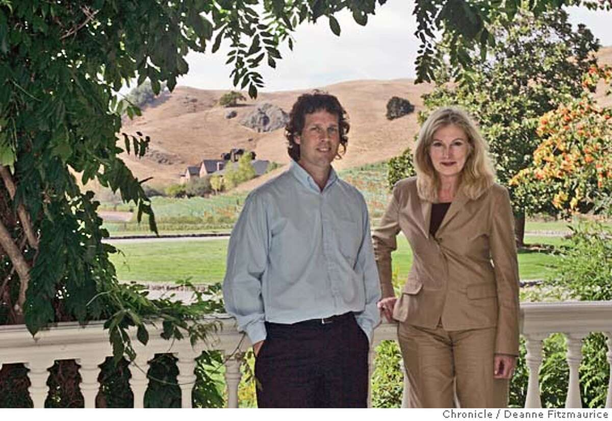 edutopia_047_df.JPG James Daly, Editor in Chief and Cheryl Lucanegro, Publisher of Edutopia, a new magazine about education at Skywalker Ranch. Deanne Fitzmaurice / The Chronicle MANDATORY CREDIT FOR PHOTOG AND SF CHRONICLE/ -MAGS OUT Business#Business#Chronicle#10/17/2004#ALL#Advance#J5#0422410223