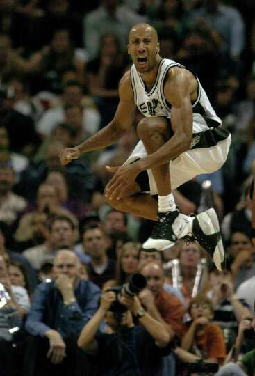 Bruce Bowen reacts to a foul called on him in the second half of the First Round of the Western Conf