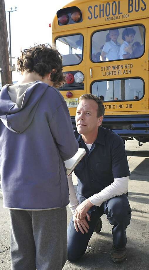 TOUCH: Martin (Kiefer Sutherland, R) tries to understand his son Jake (David Mazouz, L) in TOUCH which debuts with a special preview Wednesday, Jan. 25 (9:00-10:07 PM ET/PT) and then makes its series premiere Monday, March 19 (9:00-10:00 PM ET/PT) on FOX. ©2012 Photo: Richard Foreman, Fox