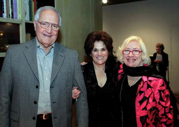 Arthur and Norma Rodriguez with event chairperson Jane Macon get together to celebrate at Mayor Emeritus Lila Cockrell's 90th Birthday Celebration, Thursday, January 19, 2012 at The Tobin Estate in San Antonio. Photo: J. MICHAEL SHORT, SPECIAL TO THE EXPRESS-NEWS / THE SAN ANTONIO EXPRESS-NEWS