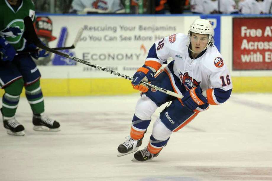 Bridgeport Sound Tigers winger Sean Backman in action against Connecticut Whale at the Webster Bank Arena in Bridgeport, Conn. Nov. 2nd, 2011. Photo: Ned Gerard / Connecticut Post