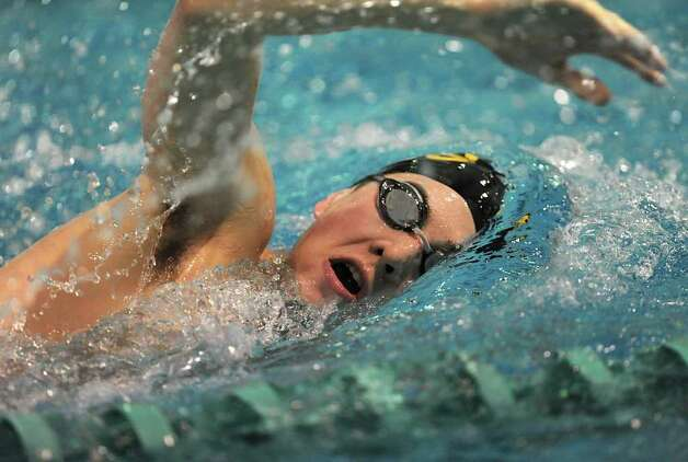Swimmer Antonio Lanzi swims laps during practice at the Siena College pool Monday, Jan 23, 2012 in Loudonville, N.Y. (Lori Van Buren / Times Union) Photo: Lori Van Buren