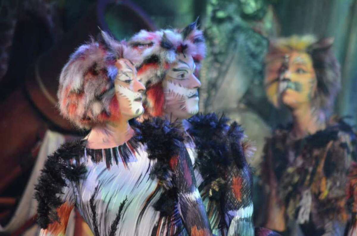 Amanda LaMotte (from left) and Craig Donnelly play Tantomile and Coricopat in the national tour of 'Cats.' Courtesy of Tony Ray Hicks
