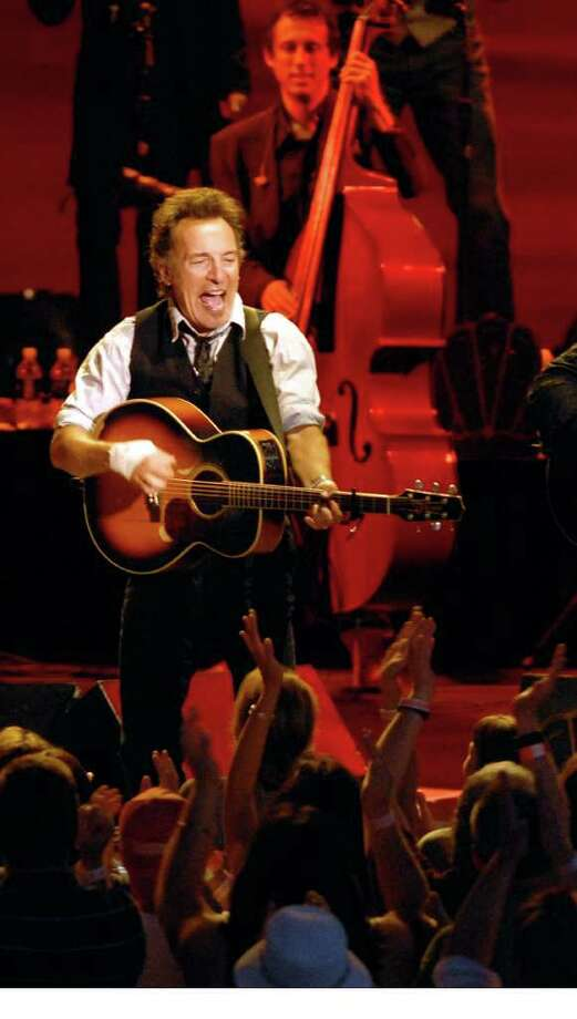 Bruce Springsteen and members of the Seeger Sessions Band perform at SPAC, to a huge crowd on June 19, 2009. (Luanne M. Ferris / Times Union Archive) Photo: LMF, DG / ALBANY TIMES UNION