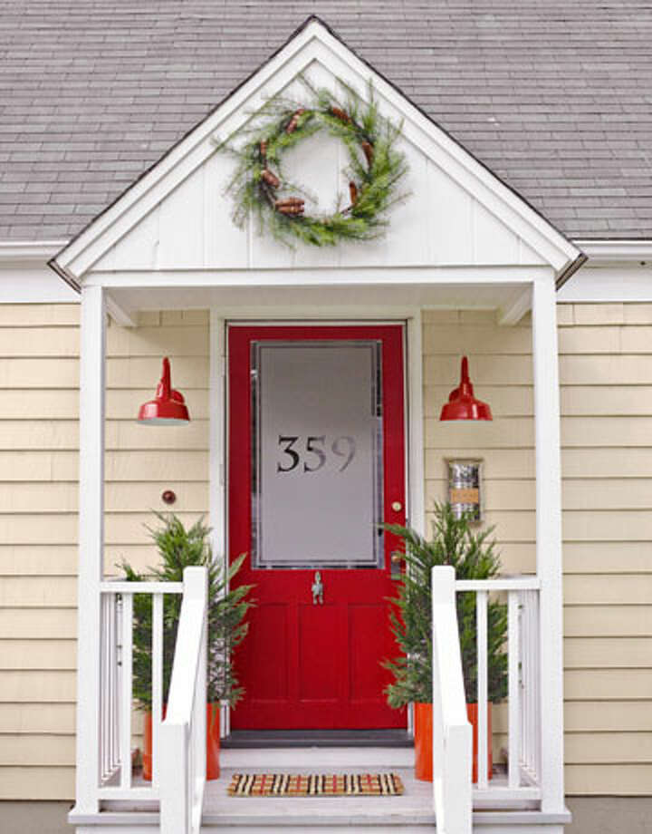 Redo Your Front Door Give your house curb appeal with these fast fixes for your front door. A fresh coat of paint, and a few accessories, can change the entire look of your home! Instructions: Front Door Makeover  Reprinted with Permission of Hearst Communications, Inc. Originally Published: 11 Weekend Makeover Projects