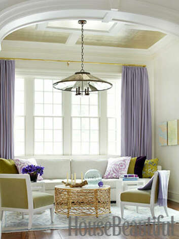 "Keep Seating NeutralStay away from large pieces upholstered in a bold color or busy pattern - it will make a room feel heavier. ""When the sofa is white, it feels lighter, more conducive to conversation,"" says designer Pat Healing, who decorated this home for a young family in upstate New York. Bird's Nest Cocktail Table by HB Home; Campion chandelier, Urban Electric. Maura McEvoy Cloned from housebeautiful #838440."
