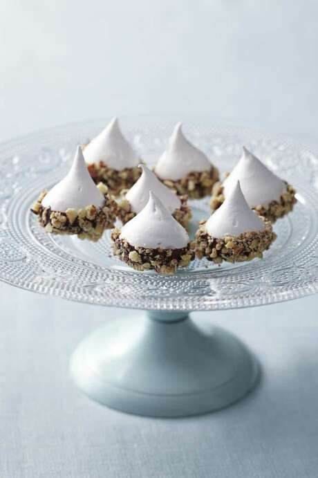 Delish: Good Housekeeping recipe for Chocolate-Almond Meringues. Photo: Yunhee Kim