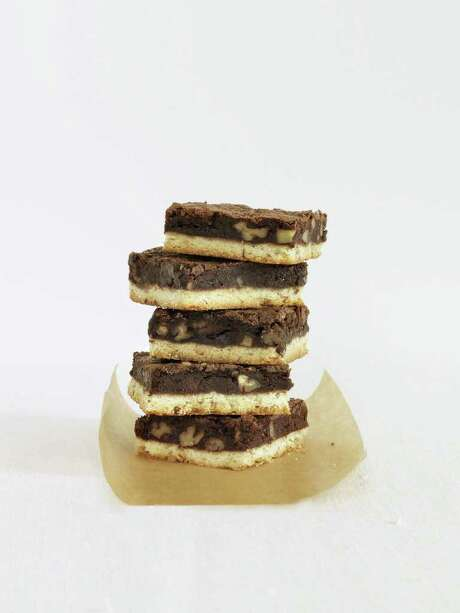 Delish: Redbook recipe for Brownie-Pecan Shortbread Bars. Photo: Jason Loucas