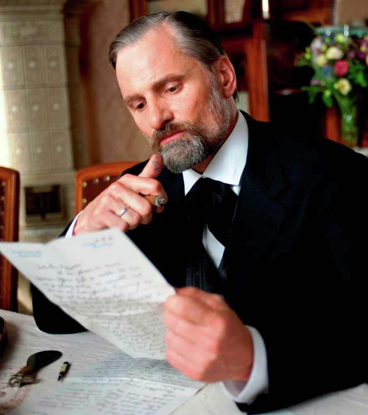 Viggo Mortensen co-stars as Sigmund Freud in