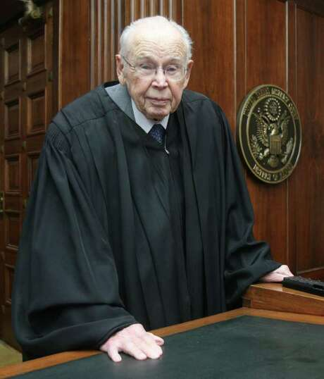 U.S. Federal District Judge Wesley Brown, seen here in 2007, took his lifetime judicial appointment seriously but had a sense of humor about himself. Photo: Travis Morisse / AP2007