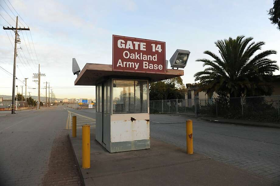 Oakland has finally decided to use the former Oakland Army Base, which has been closed for 13 years, as a freight transfer area for ships, trains and trucks at the port. The redevelopment may bring thousands  of jobs, if funding comes through. Photo: Susana Bates, Special To The Chronicle