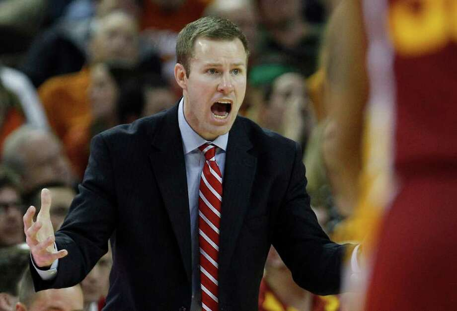 Iowa State coach Fred Hoiberg calls to players during the second half of an NCAA college basketball game against Texas, Tuesday, Jan. 24, 2012, in Austin. Photo: Eric Gay, Associated Press