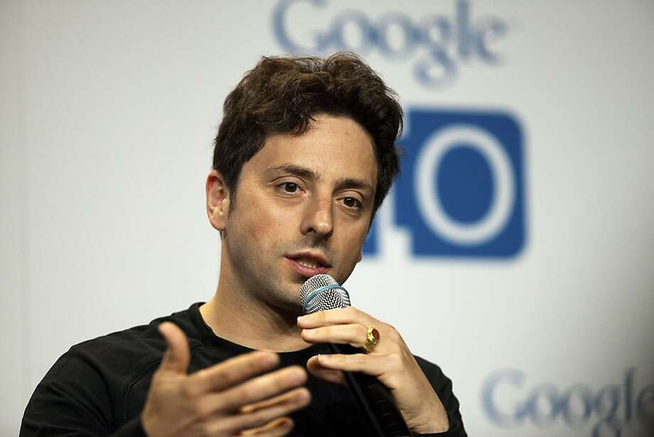 Sergey Brin, co-founder of Google Inc., speaks during a press conference at the Google I/O conference in San Francisco, California, U.S., on Wednesday, May 11, 2011. Google Inc.'s new Chromebook line of laptops, manufactured by Samsung Electronics Co. and Acer Inc., will go on sale next month, furthering the company's push into computer hardware. Photographer: David Paul Morris/Bloomberg Sergey Brin, co-founder of Google Inc., speaks during a press conference at the Google I/O conference in San Francisco, California, U.S., on Wednesday, May 11, 2011. Google Inc.'s new Chromebook line of laptops, manufactured by Samsung Electronics Co. and Acer Inc., will go on sale next month, furthering the company's push into computer hardware. Photographer: David Paul Morris/Bloomberg *** Local Caption *** Sergey Brin Photo: David Paul Morris, Bloomberg