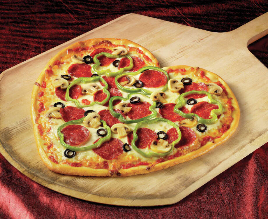 Boston's will donate proceeds from sales of its heart-shaped pizzas to St. Jude's Children's Hospital. Photo: Courtesy Photo