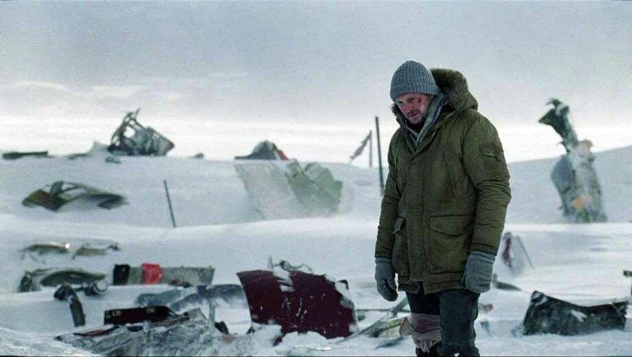 The Grey, and action thriller film directed by Joe Carnahan and starring Liam Neeson. It follows a number of men stranded in Alaska after a plane crash, and forced to survive using little more than their wits as a pack of wolves come after them. Photo: Open Road Films
