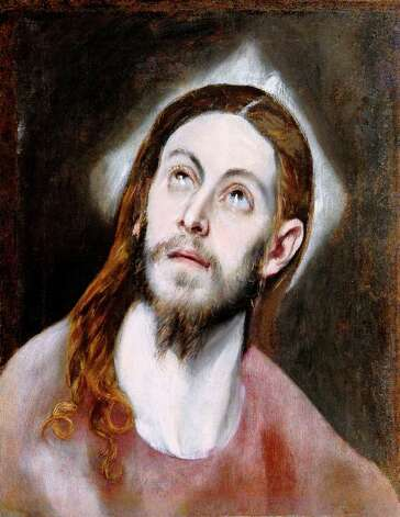 "After conservation, the McNay Art Museum's El Greco painting ""Head of Christ"" seems more alive in the eyes, with richer colors in the hair -- and the lobe of the right ear peeking out, which had previously been buried under layers of varnish and grime. Photo: Courtesy Of The McNay Art Museum"