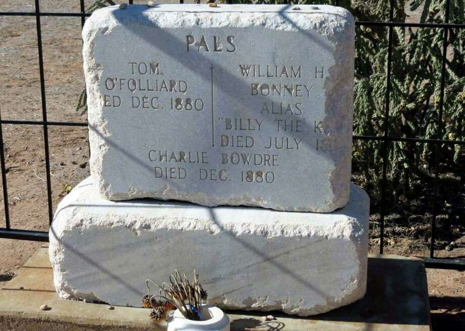 "The supposed grave site of outlaw Willam H. Bonney, better known as Billy the Kid, in Fort Sumner, N.M., is a great road stop on the way to or on the way home from a ski trip to New Mexico. Also buried with Bonney are two ""Pals"" from his band of Regulators from the Lincoln County War, Tom O'Folliard and Charlie Bowdre. Photo: Douglas Pils"