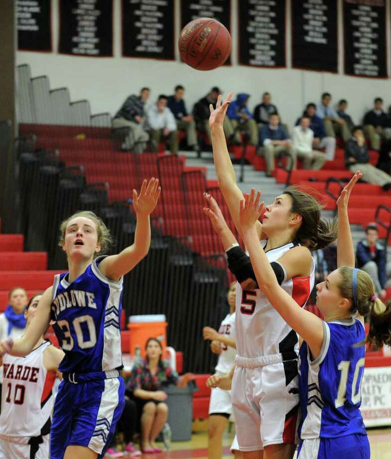 Highlights from girls basketball action between Fairfield Ludlowe and Fairfield Warde in Fairfield, Conn. on Tuesday January 24, 2012. Photo: Christian Abraham / Connecticut Post
