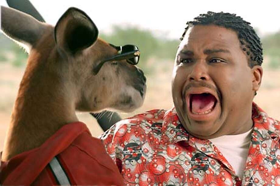 ") KANGAROO JACK and ANTHONY ANDERSON in Castle Rock Entertainment�s family action adventure comedy, ""Kangaroo Jack,"" distributed by Warner Bros. Pictures. Photo courtesy of Warner Bros. Pictures  HANDOUT PHOTO/VERIFY RIGHTS AND USEAGE Photo: HANDOUT"