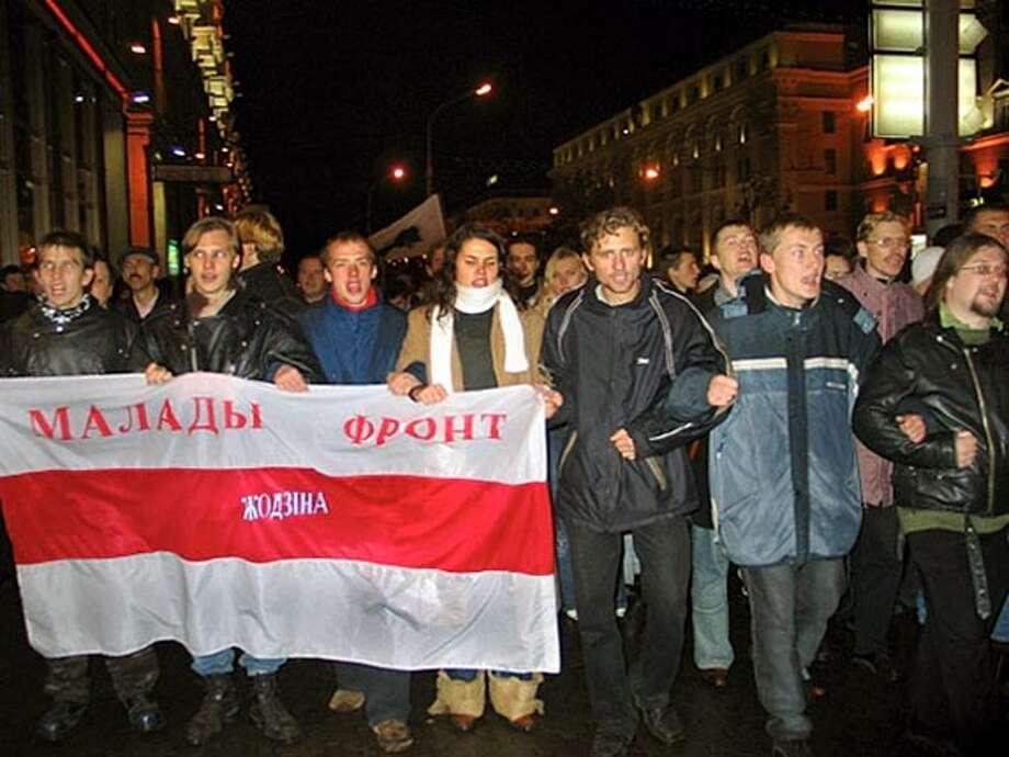Protest line. Photo: Keli Belarus