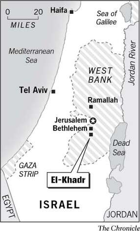 El-Khadr, West Bank. Chronicle Graphic