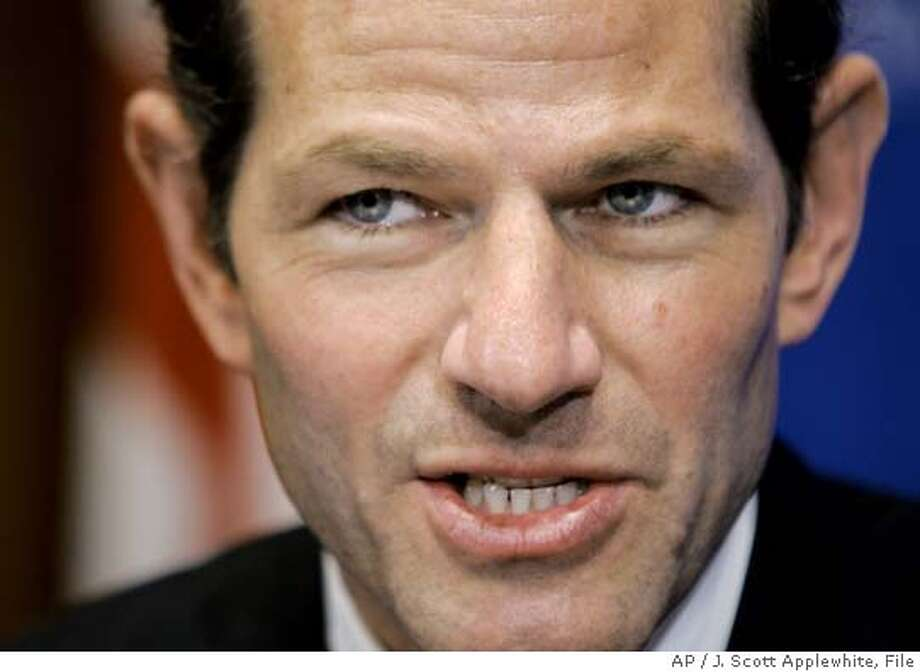 ** FILE ** New York Attorney General Eliot Spitzer pauses before speaking at a sold-out luncheon at the National Press Club in Washington, Monday, Jan. 31, 2005. Spitzer has issued subpoenas to drug distributors AmerisourceBergen Corp., Chesterbrook, Pa., and Cardinal Health Inc. of Dublin, Ohio. (AP Photo/J. Scott Applewhite) JAN. 31, 2005, PHOTO Photo: J. SCOTT APPLEWHITE