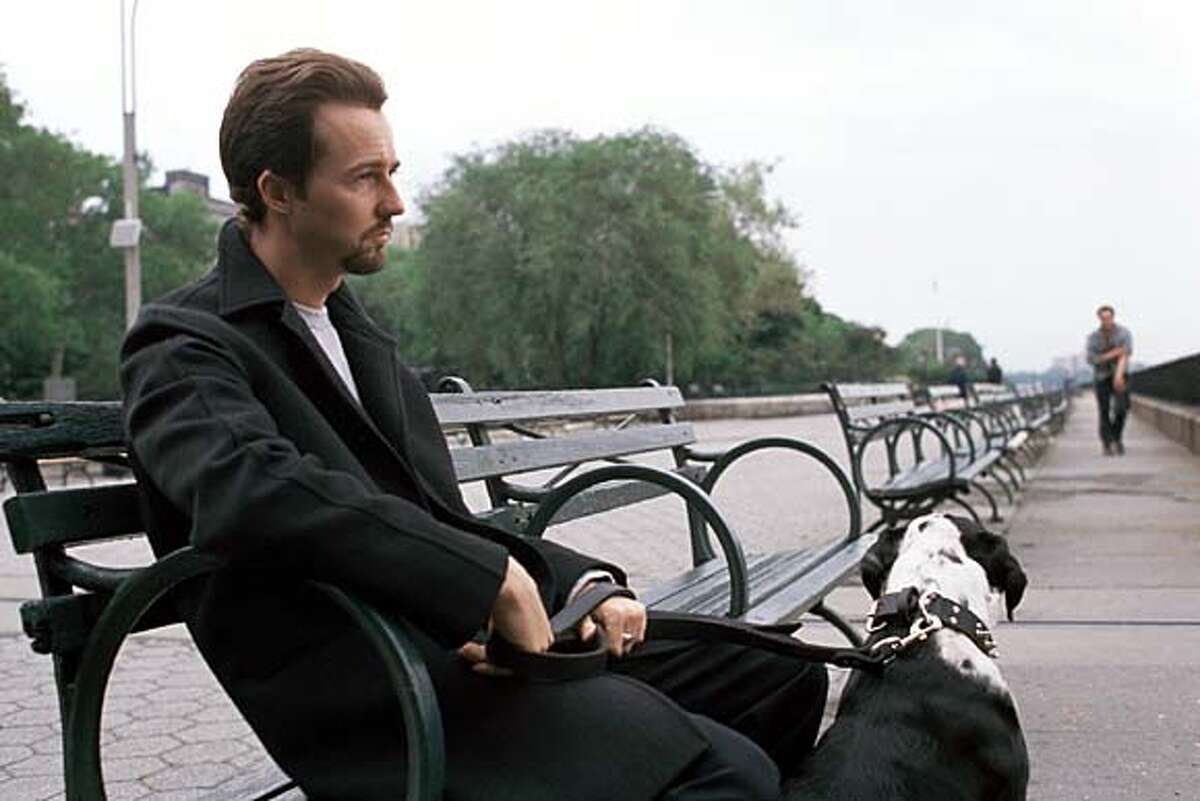 """Edward Norton's Monty ponders an uncertain future in Spike Lee's """"25th Hour."""""""