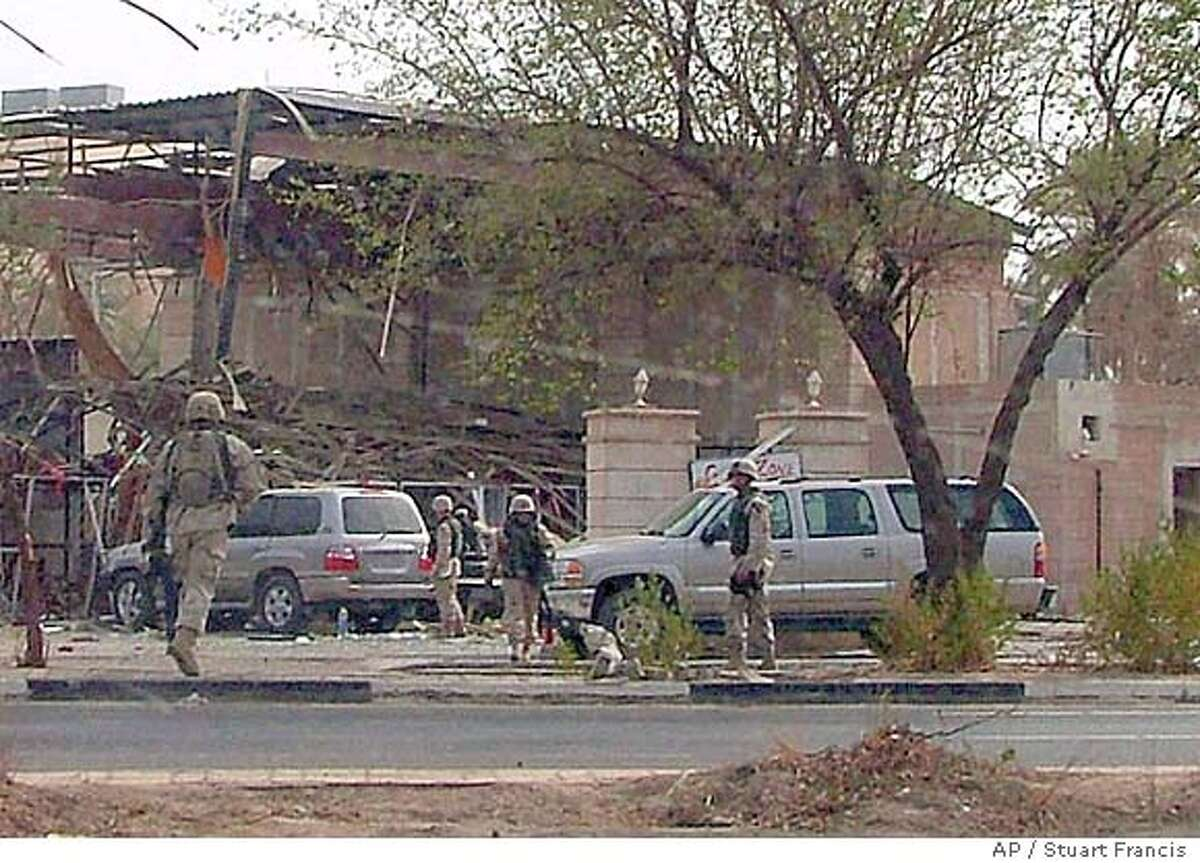 U.S. Army soldiers rush to the scene after