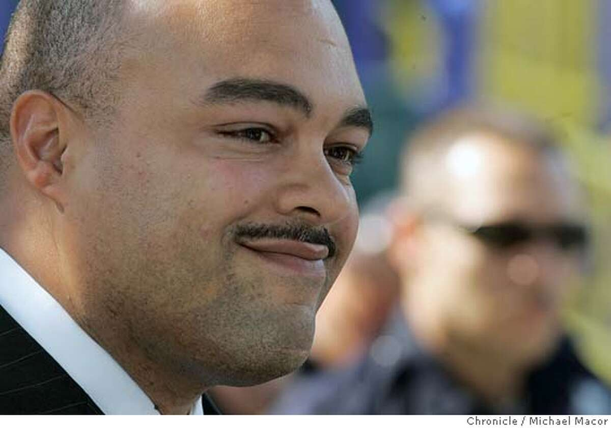 word_026_mac.jpg Chief Word attends a press conference to unvail a communiity program to fight crime in the Fruitvale District of Oakland. Oakland's Police Chief Richard Word set to announce today his leaving the department after 20 years of service. He is accepting the Chief of Police position in Vacaville, Ca. 10/14/04 San Francisco, CA Michael Macor / San Francisco Chronicle Mandatory Credit for Photographer and San Francisco Chronicle/ - Magazine Out Metro#Metro#Chronicle#10/15/2004#ALL#5star##0422413467