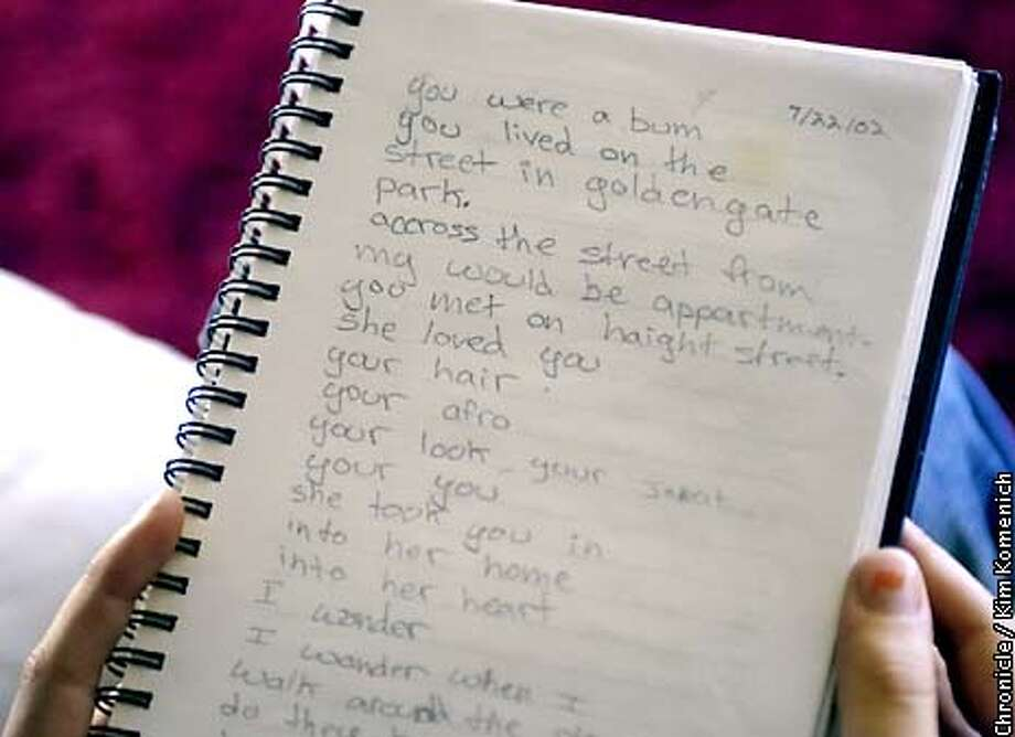 this is the original poem in her journal jasmine shain moser 14 has written