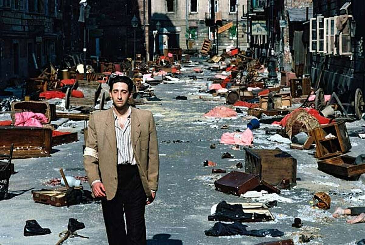 Adrien Brody plays a Jewish pianist who witnesses the mounting horrors in Nazi- occupied Warsaw.