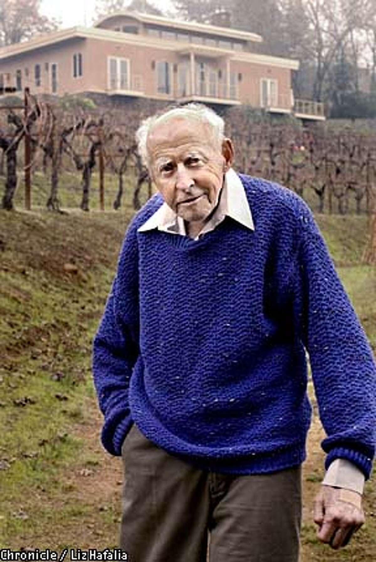 Pioneer: Al Brounstein is considered the father of Diamond Mountain Cabernet. Chronicle photo by Liz Hafalia